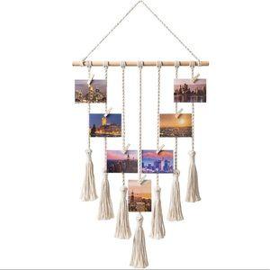 Hanging Photo Display Macrame Organizer Boho